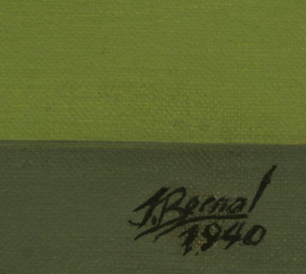 289: JOSE BERNAL Cuban Modernism 1940 Oil Painting - 3