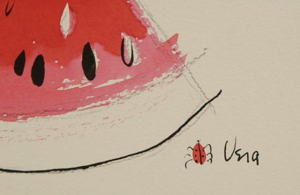 294: VERA NEUMANN Watermelon Slice Watercolor - 3