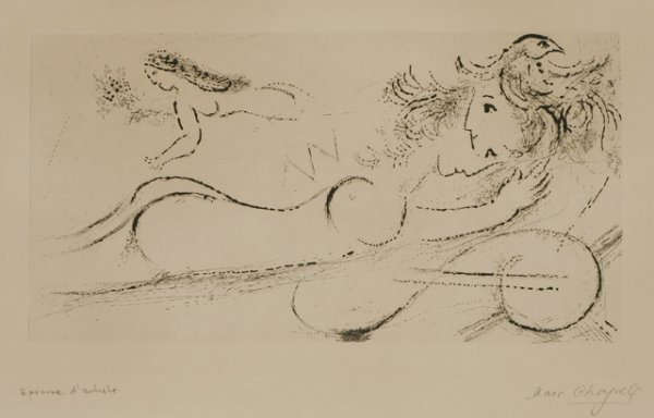 308: MARC CHAGALL Amourous III Etching