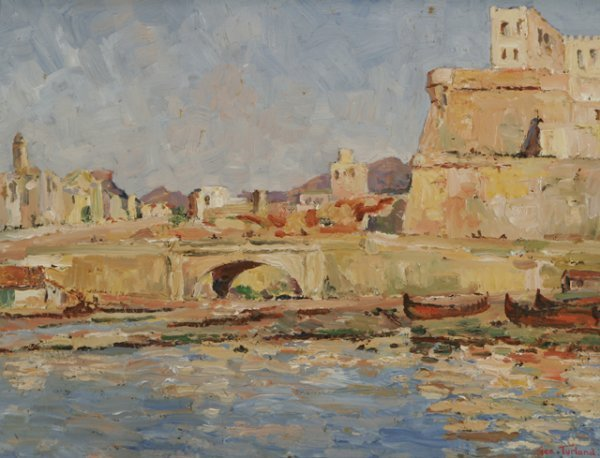 321: GEORGE TURLAND GOOSEY Morocco Painting American