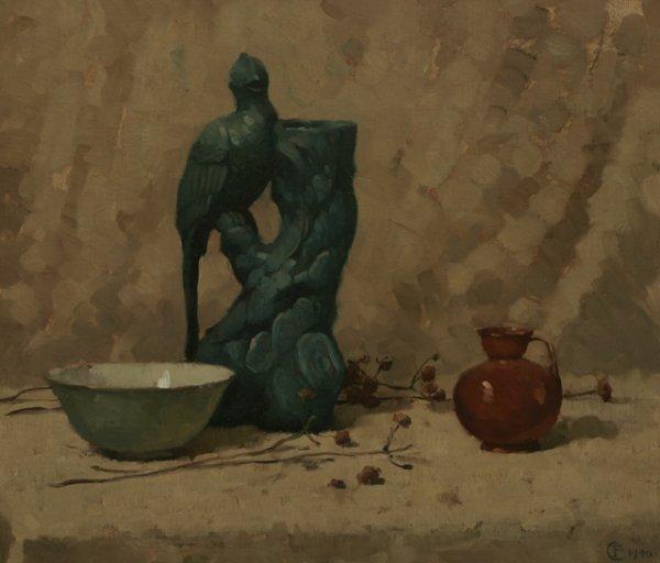 6: FRANK TOLLES CHAMBERLIN Still Life 1940 Oil Painting