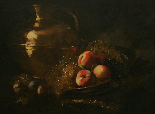 7: ALFRED BRUNEL de NEUVILLE Still Life Oil Painting