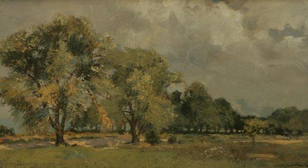 9: AMERICAN SCHOOL Landscape 19th C. Oil Painting
