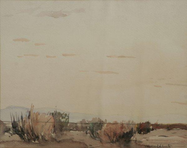 22: MILLARD SHEETS Desert Light 1929 Watercolor