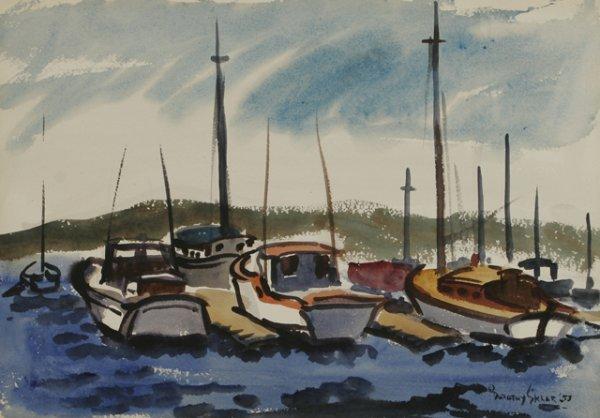 24: DOROTHY SKLAR Ripple, 1953 Watercolor