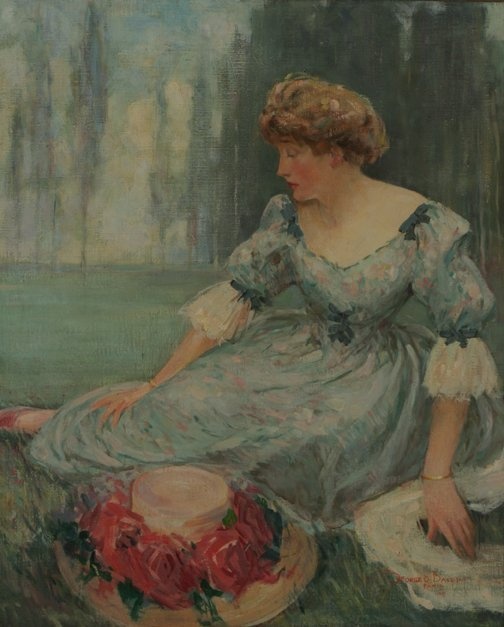 45: GEORGE BAKER Portrait Lady on the Grass