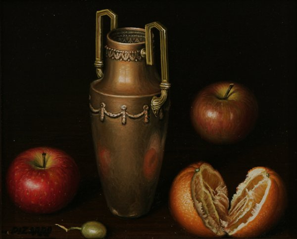 70: L. PIZARRO Four Still Life Oil Paintings