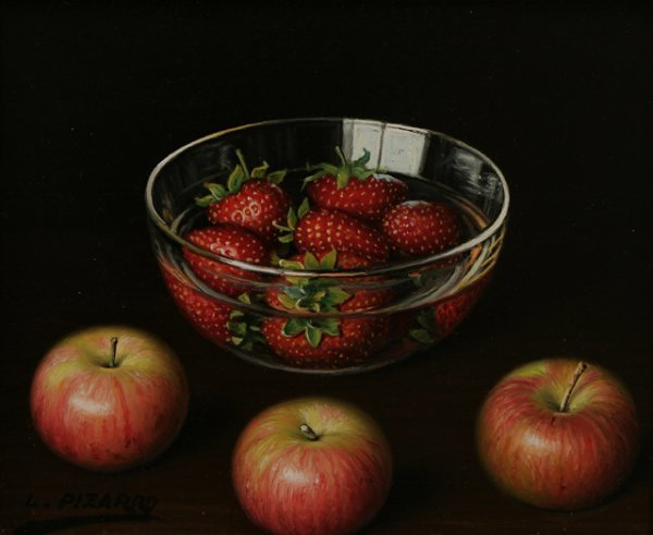70: L. PIZARRO Four Still Life Oil Paintings - 3