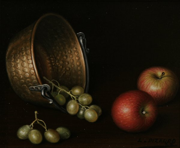 70: L. PIZARRO Four Still Life Oil Paintings - 4