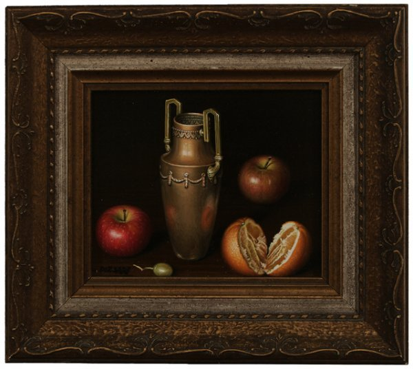 70: L. PIZARRO Four Still Life Oil Paintings - 5