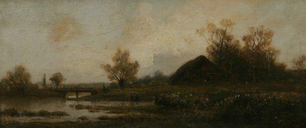 73: FEODOR ALEXANDROVICH VASILYEV Landscape 1869 Oil Pa