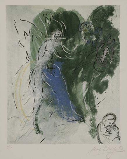 116: Marc Chagall La Lutte de Jacob et de L'Ange
