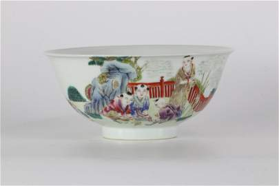 Chinese porcelain bowl with children's decoration