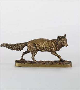 "MÊNE Pierre-Jules (1810-1879) ""Standing fox"". Model"