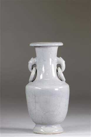 China monochrome vase Qing period