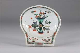 Porcelain bowl famille verte, China Kangxi period