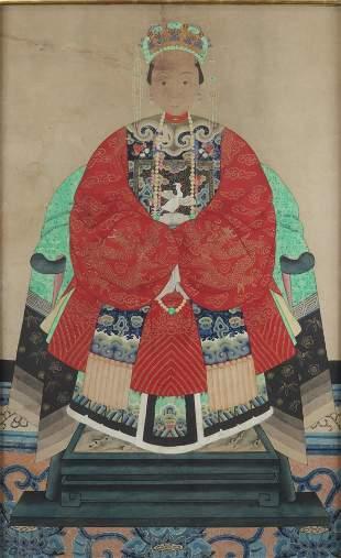 China painting of a young Mandarin
