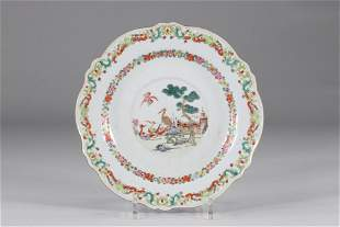 """Porcelain plate from the famille rose """"China to order""""."""
