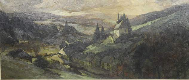 """Camille BARTHELEMY (1890-1961) Large oil painting""""Grand"""