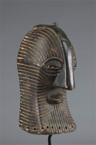 Old miniature Luba Songye mask, - DRC -1920-1930
