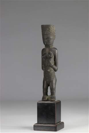 Rare Lwena statue in metal - private Belgian collector