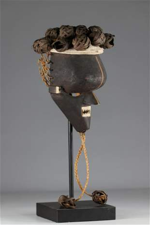 Salampas- RDC- wood mask, colonial collection