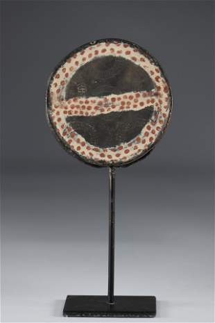 Painted terracotta Mursi Ethiopia lip tray