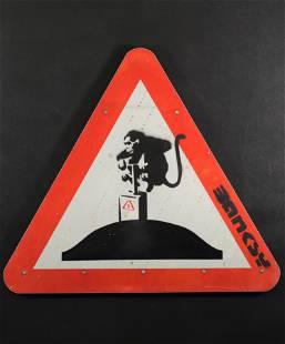 Banksy. Explosive Monkey.