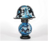 MULLER Freres Luneville desk lamp cleared with acid Art