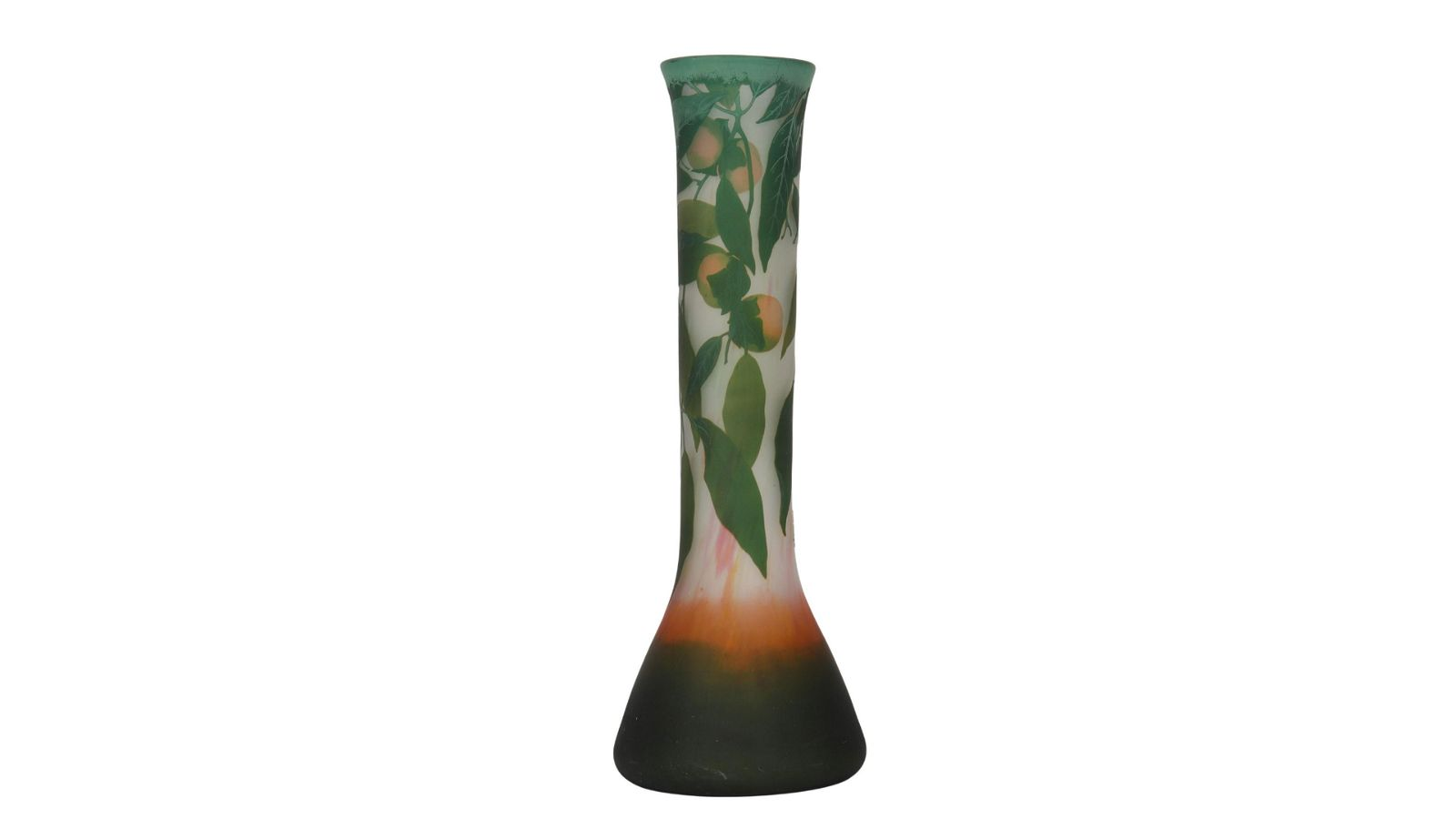 Daum Nancy very important vase decorated with