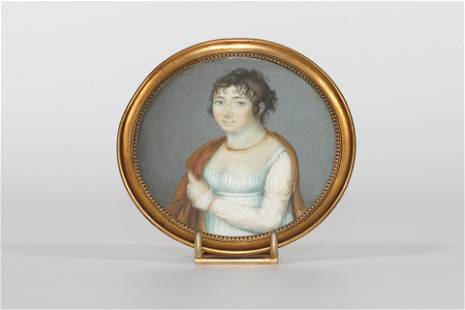 """France portrait of a """"miniature"""" young woman from the"""