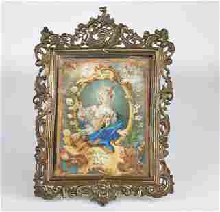 Sumptuous miniature painting on 18th century vellum