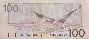 Canadian $100 Note