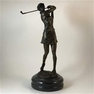 Bronze Statue of A Golfer