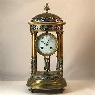Chinese Gilt Cloisonne Clock