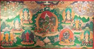 TIBET TANGKA, QING DYNASTY, CHINA