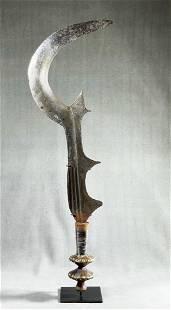 African Congo Ngombe Executioneer's Sword Display