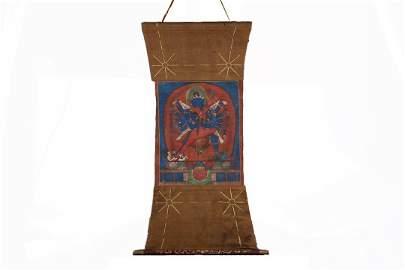 Yuan Dynasty Kadampa Hevajra Tangka