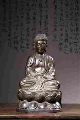 Qing Dynasty   Zitan Wood Buddha Ornament