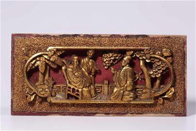 Qing Dynasty 17-19 Century, Wooden Lacquer Gold