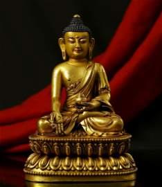 Tibetan Gilt Bronze Bhaisajyaguru