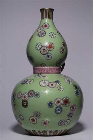 Qing Dynasty Qianlong Period Mark Turquoise-Glazed