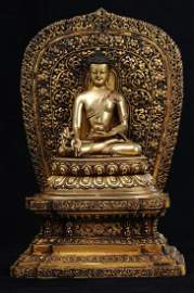 Tibetian Gilt Bronze Bhaisajyaguru