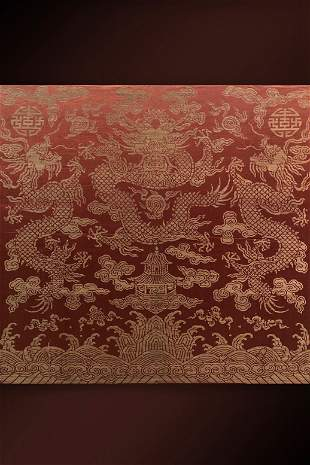 Qing Dynasty 'Dragon' Nasich Hang screen