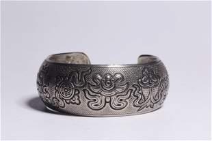 Republic of China 20 Century Silver Bangle
