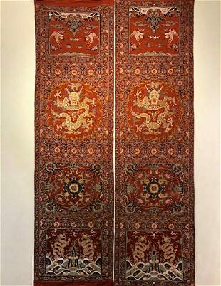 A Pair of Qing Dynasty Song Dynasty 'Dragon' Chair