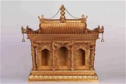 Qing Dynasty Gilt Bronze 'Dragon' Palace-style Buddhist