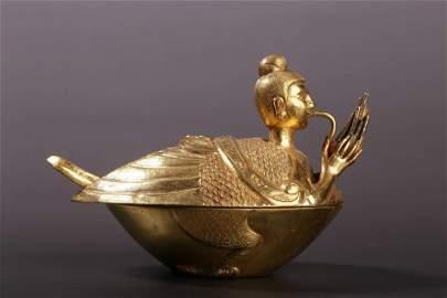 Warring States Period - Han Dynasty  Gold Sheng Garuda