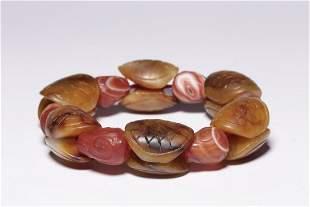 Qing Dynasty Agate Hetian jade Bracelet