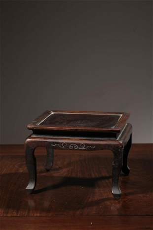 Qing Dynasty Rosewood Silver Wire Inlaid Table